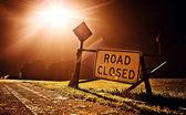 道路封闭的标志 — 图库照片