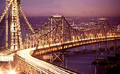 San francisco-oakland bay bridge op — Stockfoto