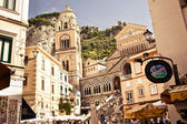 Square of the Cathedral of St Andrea in Amalfi — Stock Photo