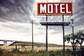 Old motel sign on Route 66, USA — Stock Photo