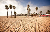 Santa monica beach, califórnia, eua — Foto Stock