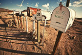 Old Mailboxes in west United States — Stok fotoğraf