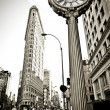 Flat Iron building facade — Stock Photo