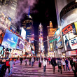 gekenmerkt met de theaters van broadway in new york city Times square — Stockfoto #23234048