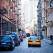 Soho district in New York City - Stock Photo