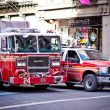 FDNY cars at Soho district in New York City - Stock Photo