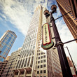 Chicago downtown at theatre district — Stock Photo #23235474
