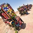 Art installation of the old Cadillac cars — Stock Photo #23235688