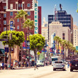 Hollywood Boulevard in Los Angeles — Stock Photo