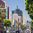 Hollywood Boulevard in Los Angeles - Stok fotoraf