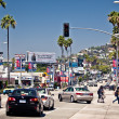 Stock Photo: Traffic and tourists pack at Sunset Strip