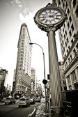 Flat iron building fasad — Stockfoto