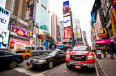 Times Square, FDNY car, New York City — Stock Photo