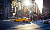 Fifty avenue and 29th street, New York City. — Stock Photo