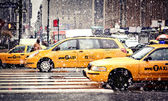 Taxi Cabs, New York City — Stock Photo