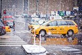 Taxi Cabs in New York — Stock Photo