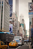 City streetlife on Sixth Avenue in New York City — Stock Photo