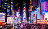 Night Times Square in Manhattan — Stock Photo