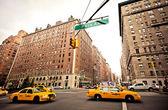 City streetlife on Park Avenue — Stock Photo