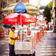 Hot Dog stand in Washington street — Stock Photo