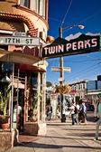 Twin peaks in san francisco — Stockfoto