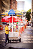 Hot Dog stand in Washington street — Foto Stock