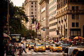 Yellow taxis in New York — Stock Photo