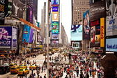 Times Square featured with Broadway Theaters — Stock Photo