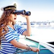 Attractive girl on a yacht at summer day — Stock Photo #23293794