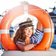 Attractive girl on a yacht at summer day — Stock Photo #23293968