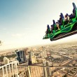 Attractions on the roof of Stratosphere hotel — Stock Photo #24385541