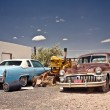 Abandoned cars on Route 66 — Stock Photo #24385553