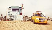 Lifeguard car on the beach — Stock Photo