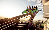 Attractions on the roof of Stratosphere hotel — Stock Photo