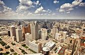 市中心底特律 — 图库照片