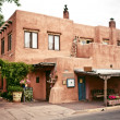 Historical houses of Santa Fe, New Mexico — Stock Photo