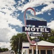 Old motel sign — Foto de Stock