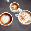Coffee with art design — Stock Photo