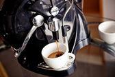 Café avec machine à expresso — Photo