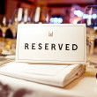 Reserved sign — Stock Photo #33088683