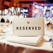 Stock Photo: Reserved sign