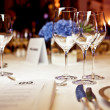 Empty glasses set in restaurant — Stock Photo #33088717