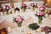 Decoration of wedding flowers — Stock Photo