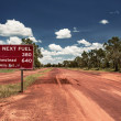 Road sign in Northern Territory road — Stock Photo #35622791