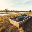 Old fishers boat  — Stock Photo