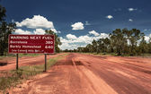 Road sign in Northern Territory road — Stock Photo