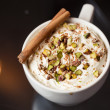 Espresso macchiato with spices — Stock Photo