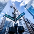 Direction signs in New York — Stock Photo #36045441