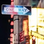 One way New York traffic sign — Stock Photo