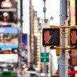 Stock Photo: Don't walk New York traffic sign
